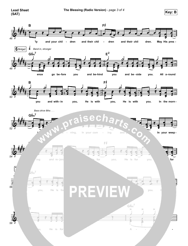 The Blessing (Radio) Lead & Piano/Vocal (Kari Jobe / Cody Carnes)