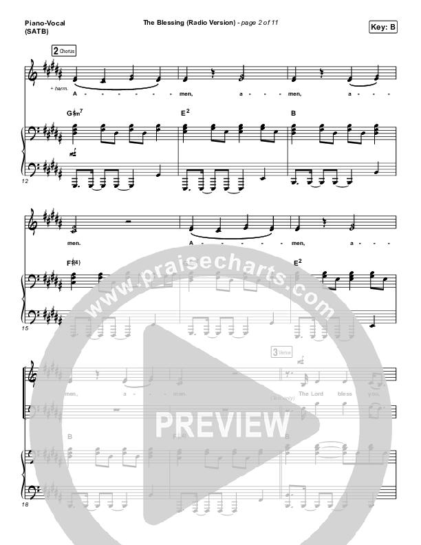 The Blessing (Radio) Piano/Vocal (SATB) (Kari Jobe / Cody Carnes)