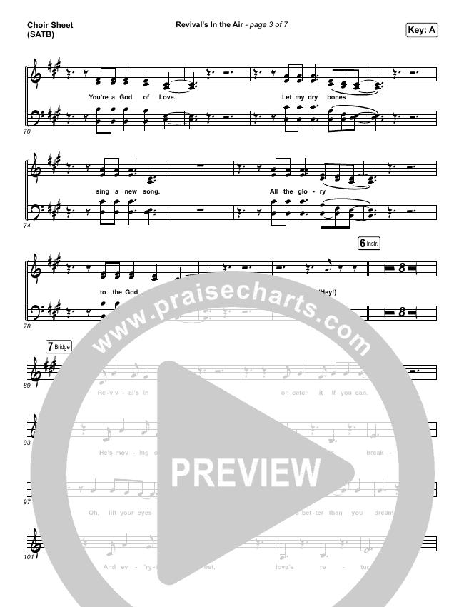 Revival's In The Air (Live) Choir Sheet (SATB) (Bethel Music / Melissa Helser)