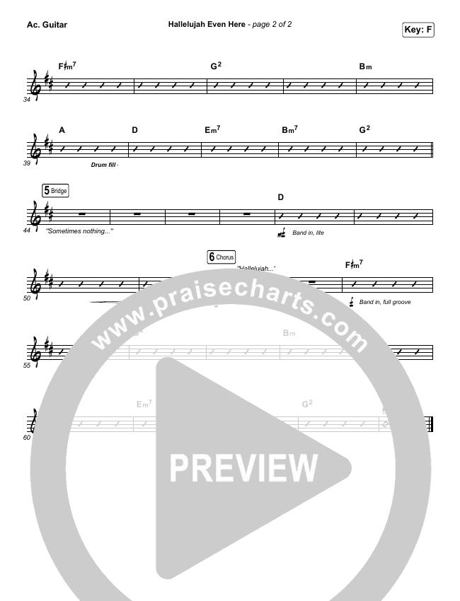 Hallelujah Even Here Rhythm Chart (Lydia Laird)