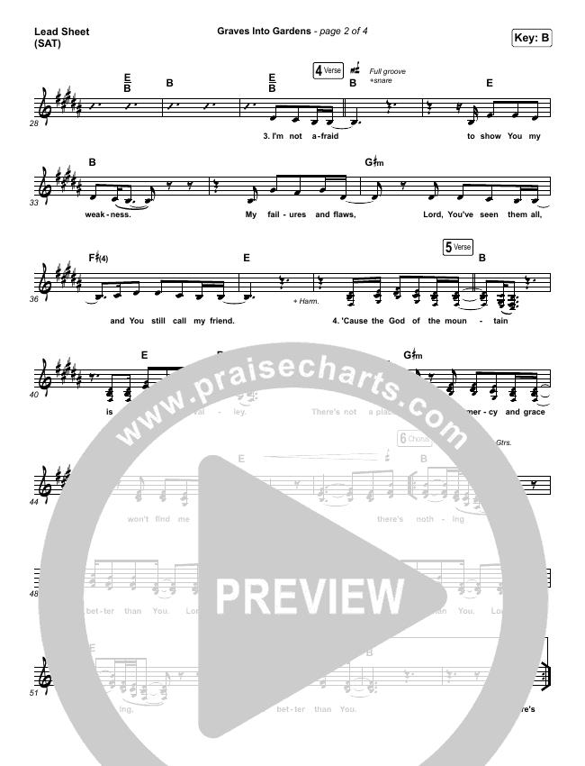 Graves Into Gardens Lead & Piano/Vocal (Shane & Shane/The Worship Initiative)
