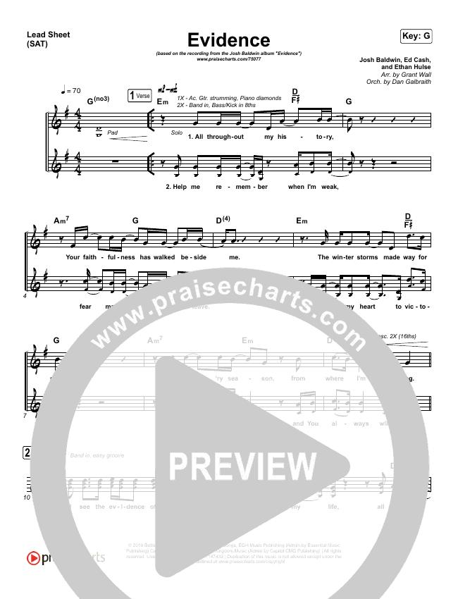 Evidence Lead Sheet (SAT) (Josh Baldwin)