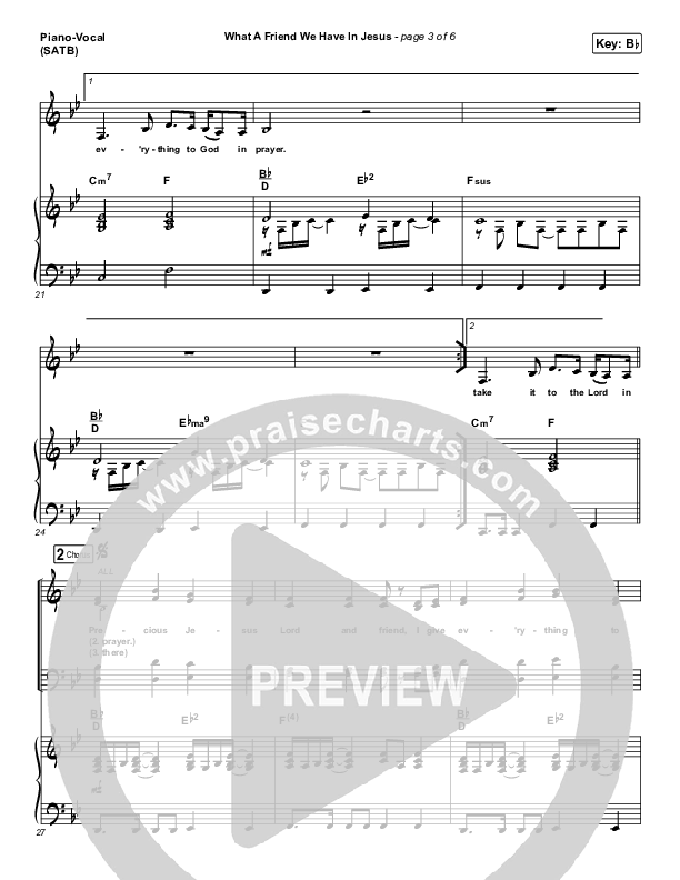 What A Friend We Have In Jesus Piano/Vocal (SATB) (Shane & Shane/The Worship Initiative / Hannah Hardin)