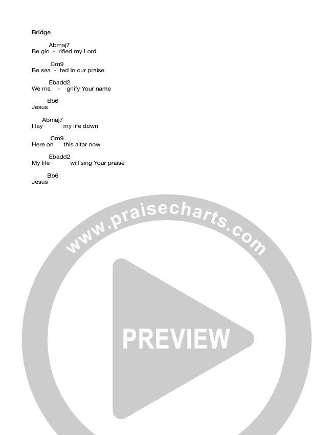 Altars Chord Chart (Equippers Worship)