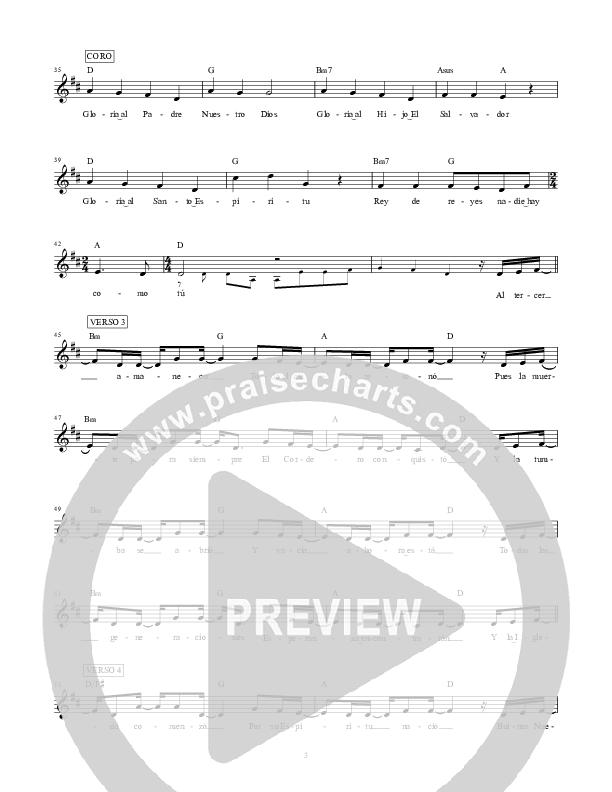Rey de Reyes (King Of Kings) Lead Sheet (SAT) (Hillsong en Espanol / Hillsong Worship)