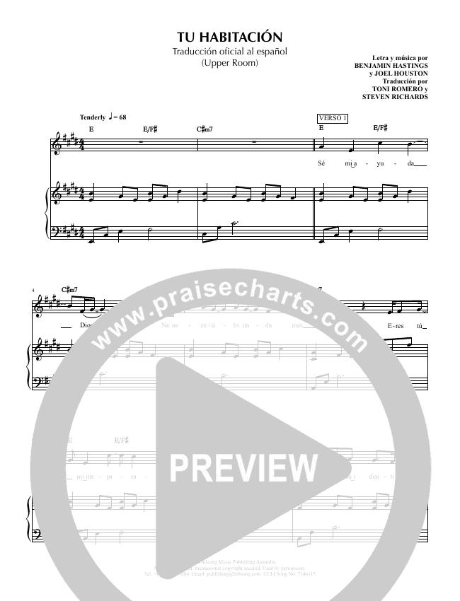 Tu Habitacion (Upper Room) Piano/Vocal (Hillsong en Espanol / Hillsong Worship)
