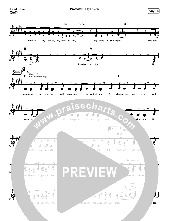 Protector Lead & Piano/Vocal (Kim Walker-Smith)