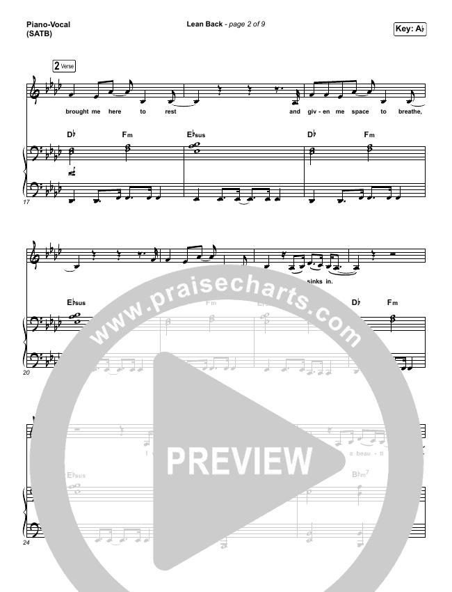 Lean Back Piano/Vocal (SATB) (Capital City Music)