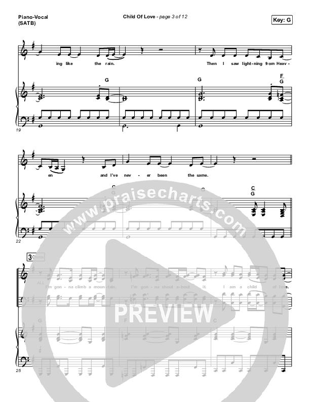 Child Of Love Piano/Vocal (SATB) (We The Kingdom)
