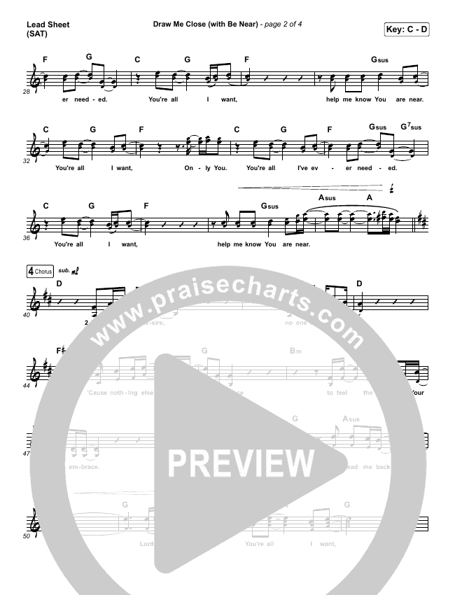 Draw Me Close / Be Near Lead & Piano/Vocal (Shane & Shane)