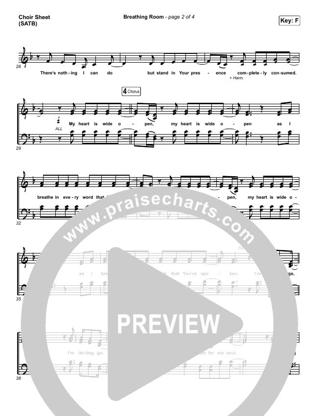 Breathing Room (Live) Choir Sheet (SATB) (Kim Walker-Smith)