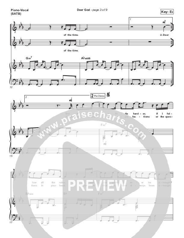 Dear God Piano/Vocal (SATB) (Cory Asbury)