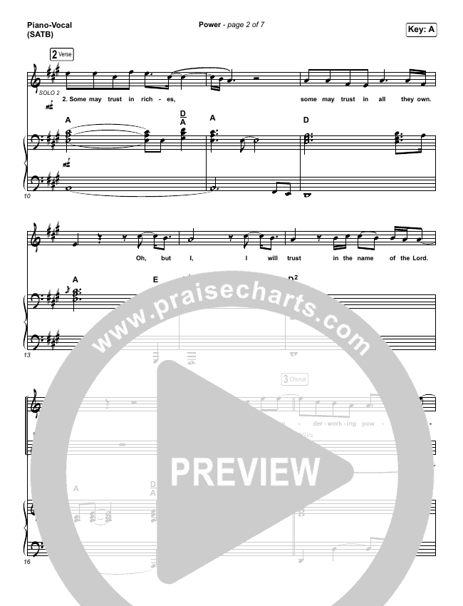 Power Piano/Vocal (SATB) (Chris Tomlin / Bear Rinehart)