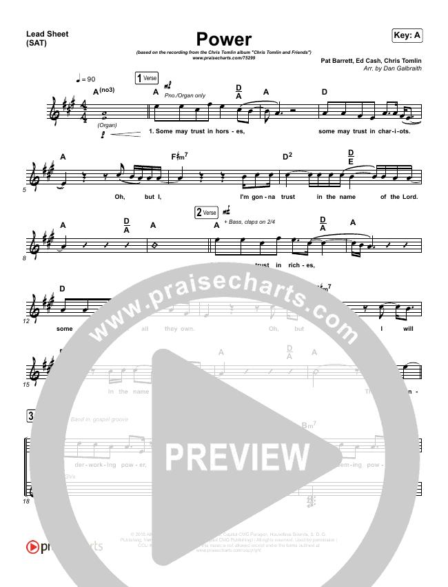 Power Lead & Piano/Vocal (Chris Tomlin / Bear Rinehart)