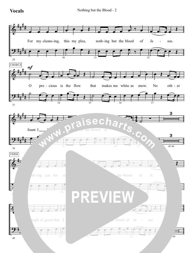 Nothing But The Blood Choir Sheet (SATB) (WorshipTeam.tv)