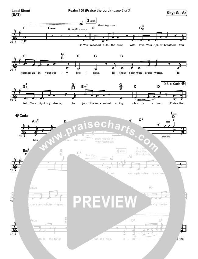 Psalm 150 (Praise The Lord) Piano/Vocal Pack (Matt Boswell / Matt Papa / Keith & Kristyn Getty)