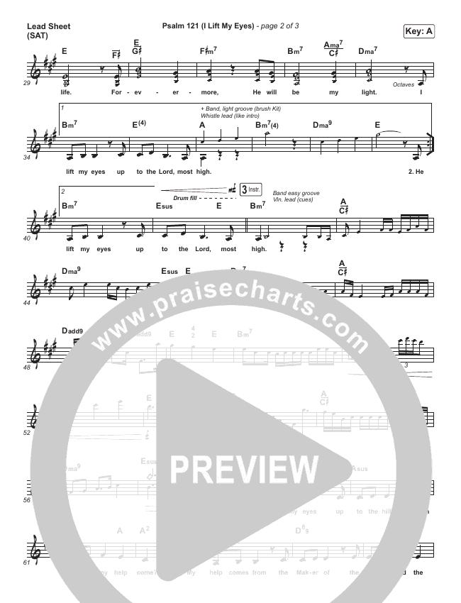 Psalm 121 (I Lift My Eyes) Lead & Piano/Vocal (Jordan Kauflin / Matt Merker / Keith & Kristyn Getty)