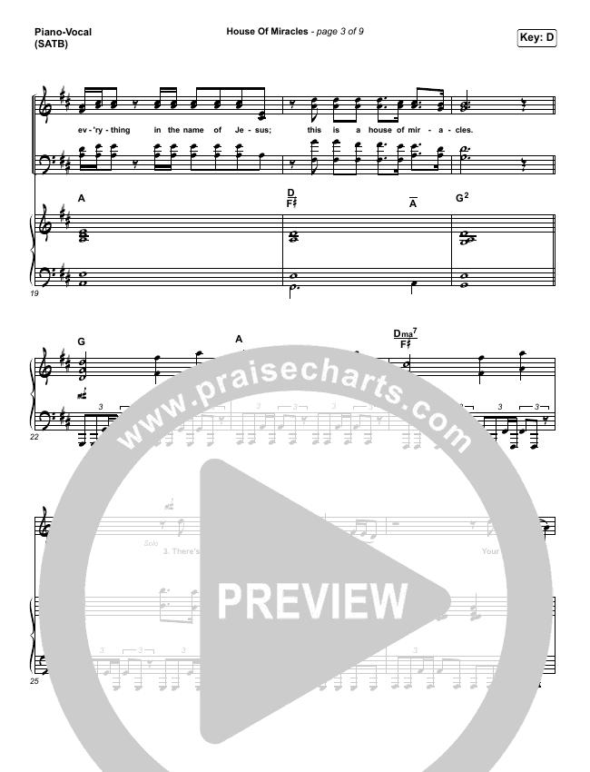 House Of Miracles Piano/Vocal (SATB) (Brandon Lake)