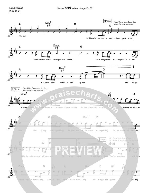 House Of Miracles Lead Sheet (Melody) (Brandon Lake)