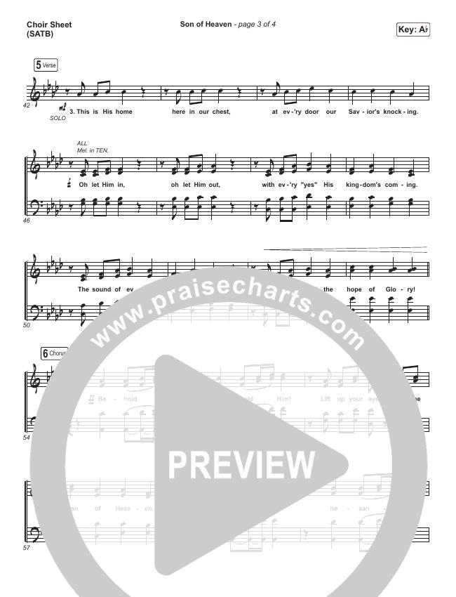 Son Of Heaven Choir Sheet (SATB) (Brandon Lake)