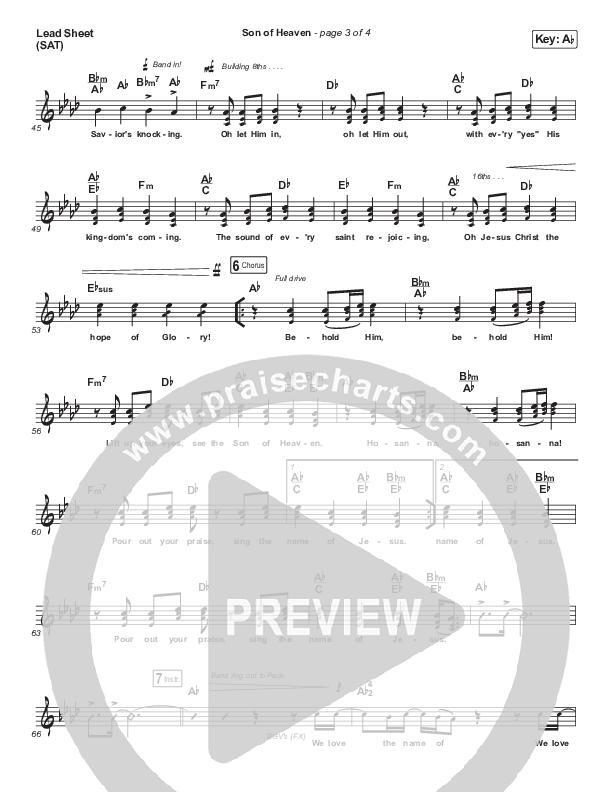 Son Of Heaven Lead Sheet (SAT) (Brandon Lake)