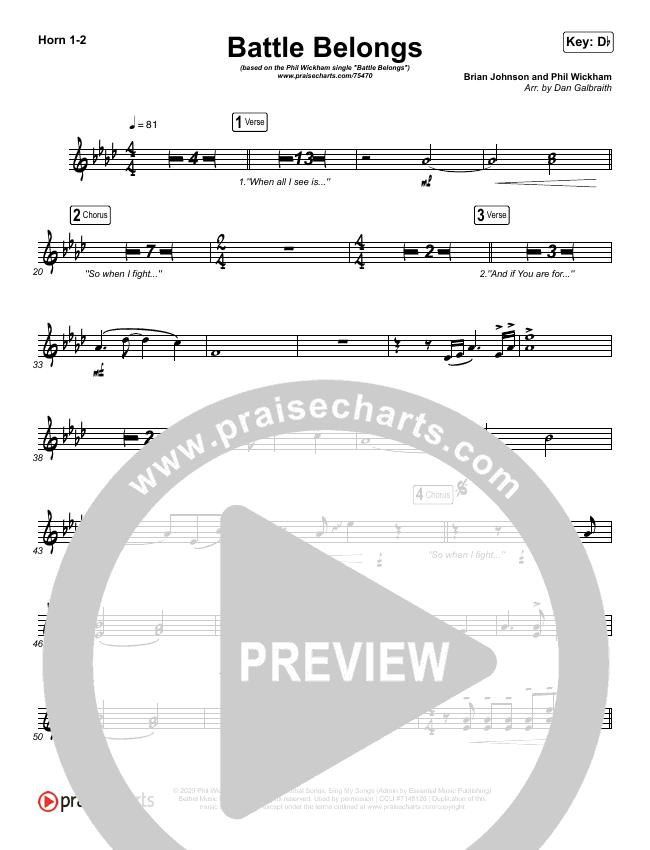 Battle Belongs Brass Pack (Phil Wickham)