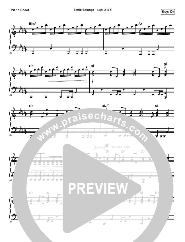 Battle Belongs Piano Sheet (Phil Wickham)