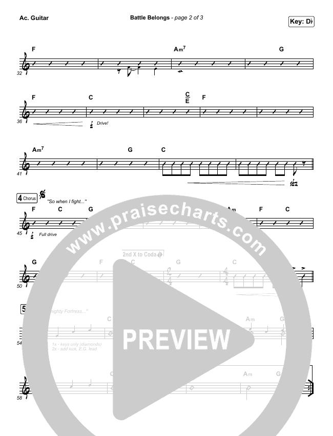 Battle Belongs Rhythm Chart (Phil Wickham)