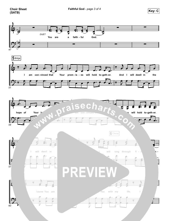 Faithful God Choir Sheet (SATB) (I Am They)