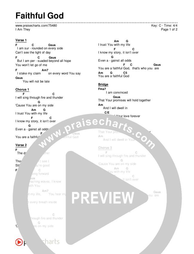 Faithful God Chords & Lyrics (I Am They)