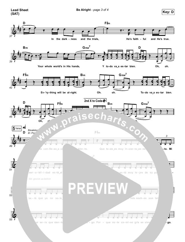 Be Alright Lead & Piano/Vocal (Evan Craft / Danny Gokey)