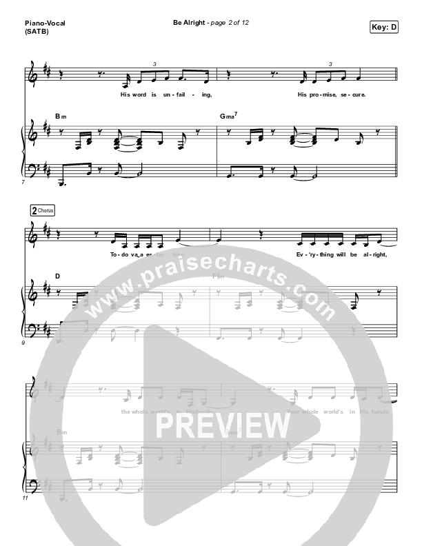 Be Alright Piano/Vocal (SATB) (Evan Craft / Danny Gokey)