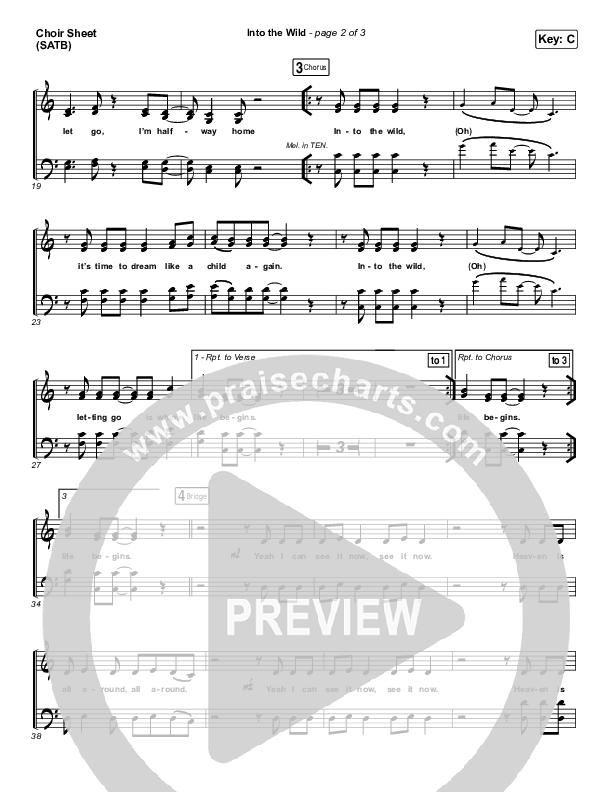 Into The Wild Choir Sheet (SATB) (Josh Baldwin)