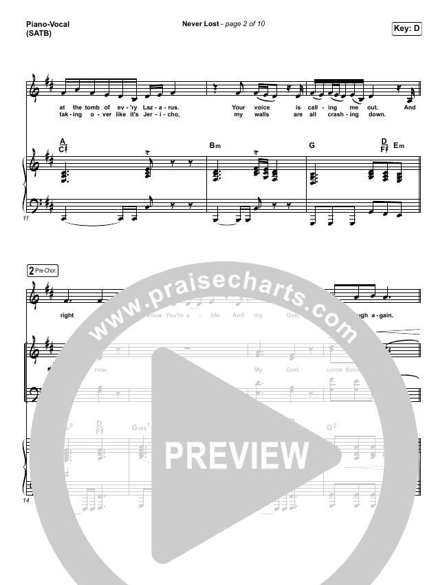 Never Lost (Radio) Piano/Vocal (SATB) (CeCe Winans)