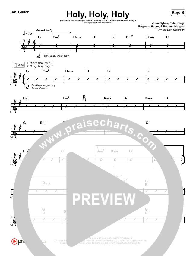 Holy Holy Holy (Live) Rhythm Chart (Hillsong UNITED)