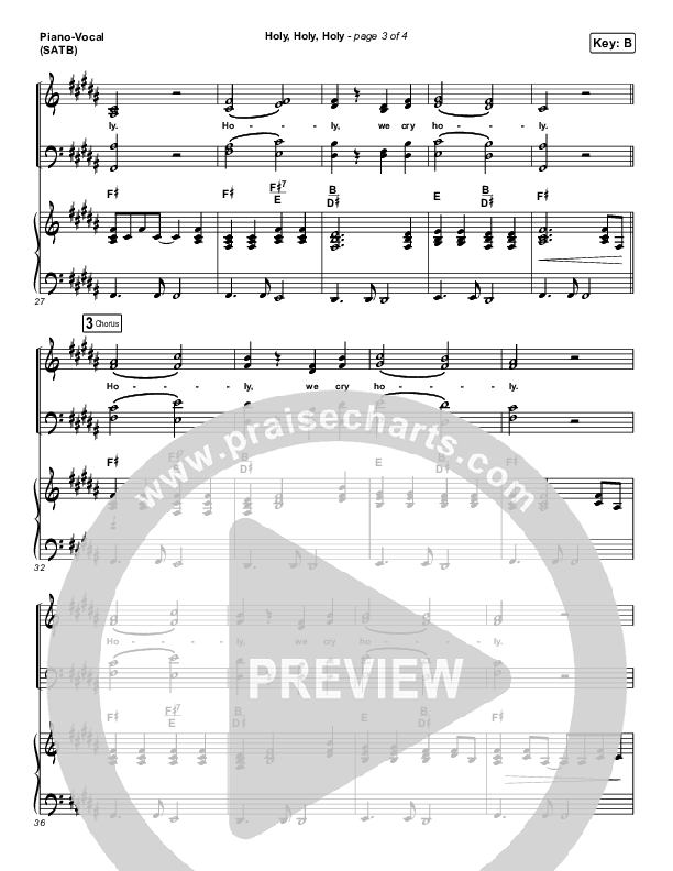 Holy Holy Holy (Live) Piano/Vocal (SATB) (Hillsong UNITED)