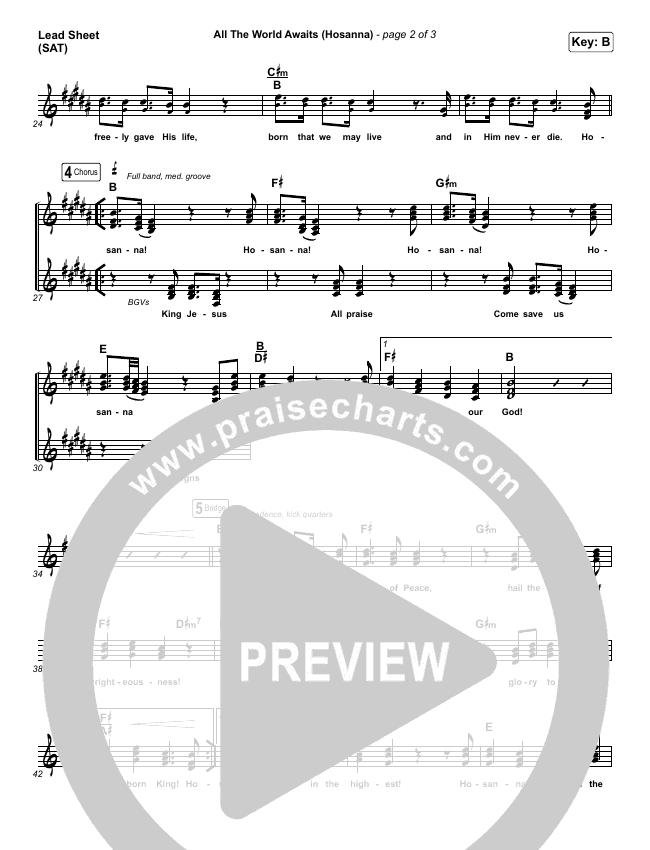 All The World Awaits (Hosanna) Lead & Piano/Vocal (Chris Tomlin)