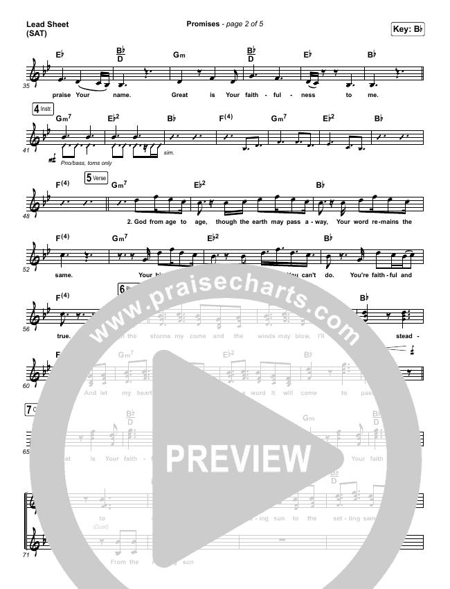 Promises Lead Sheet (SAT) (Maverick City Music)