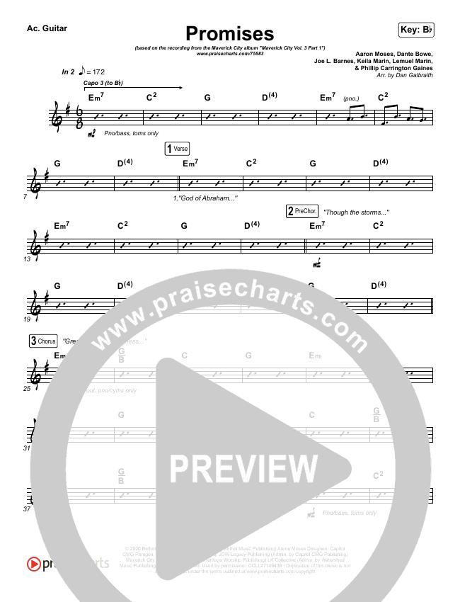 Promises Rhythm Chart (Maverick City Music)