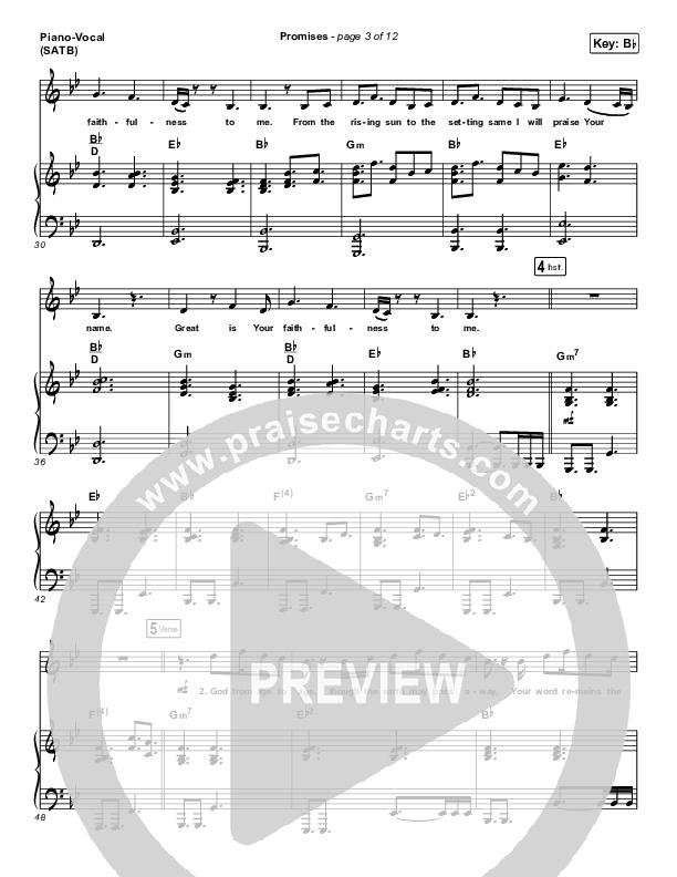Promises Piano/Vocal (SATB) (Maverick City Music)