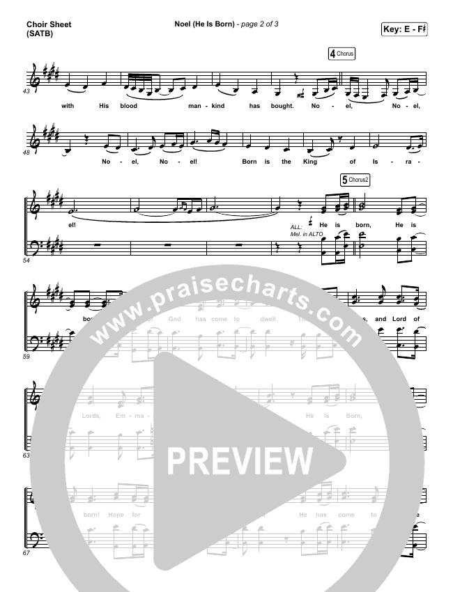 Noel (He Is Born) Choir Sheet (SATB) (Tommee Profitt / Stanaj)