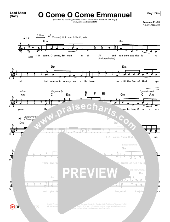 O Come O Come Emmanuel Orchestration (with Vocals) (Tommee Profitt)