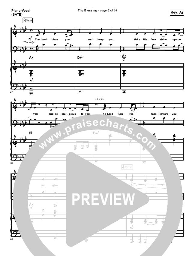 The Blessing Piano/Vocal (SATB) (Kari Jobe / Cody Carnes)