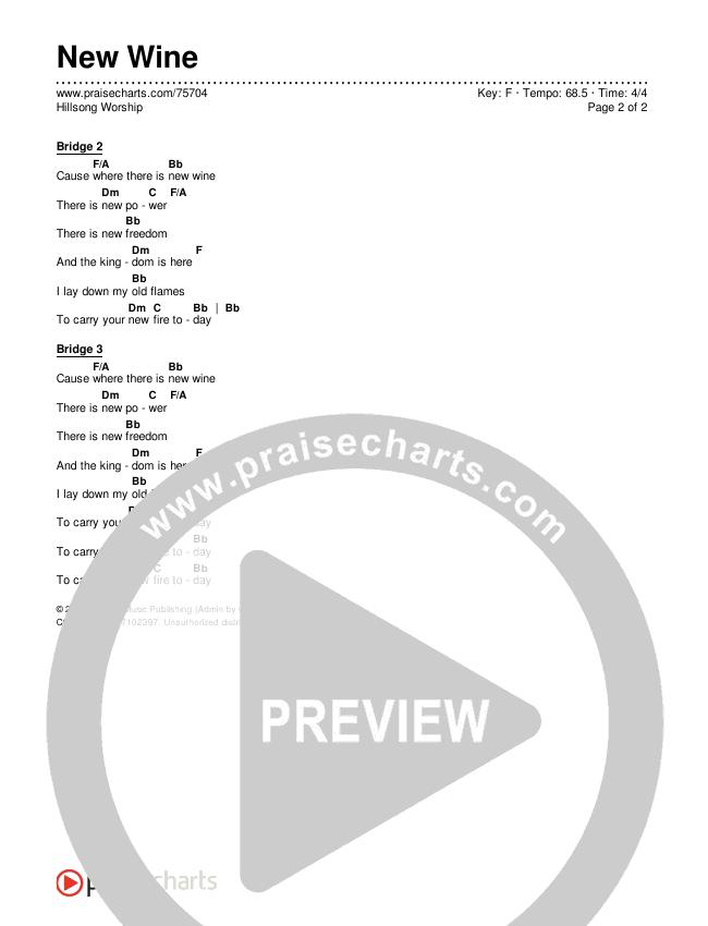 New Wine Chords & Lyrics (Hillsong Worship)
