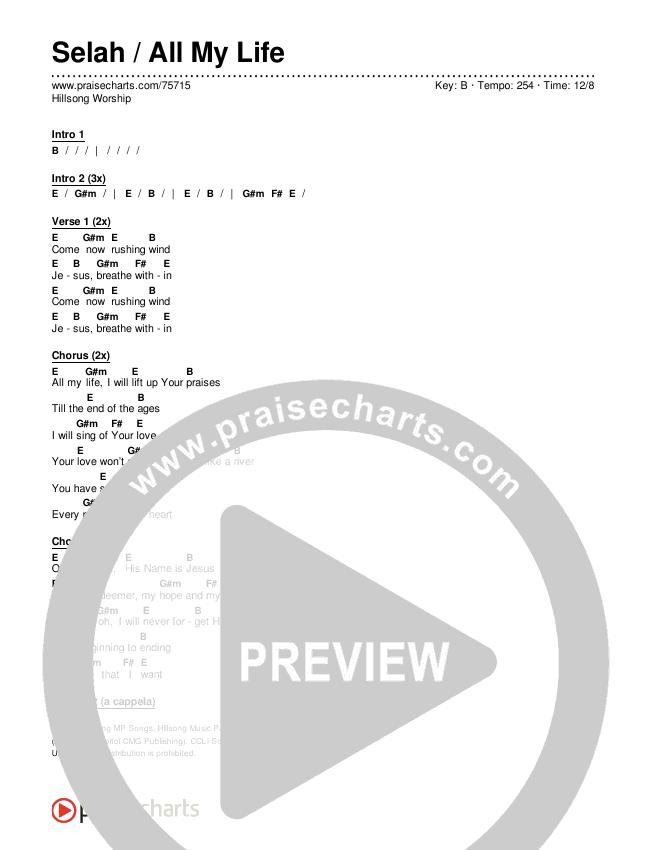 Selah / All My Life Chords & Lyrics (Hillsong Worship)