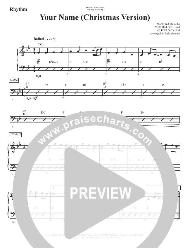 Your Name (Christmas) Rhythm Chart (WorshipTeam.tv)