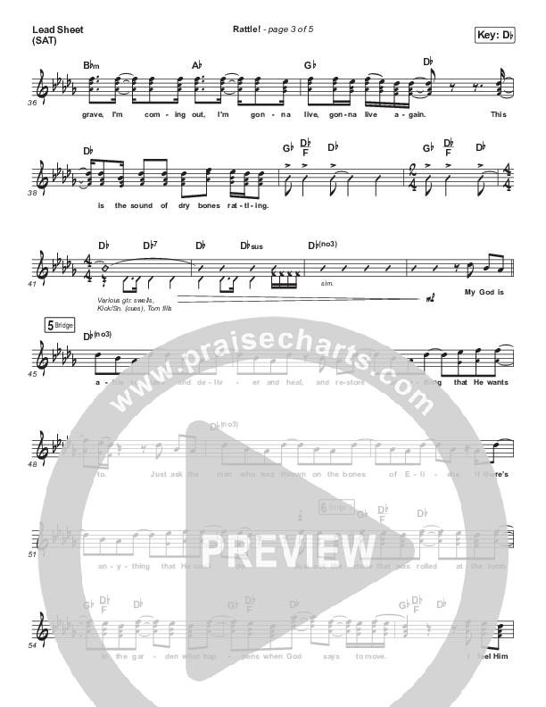 RATTLE! Lead Sheet (SAT) (Zach Williams / Steven Furtick)