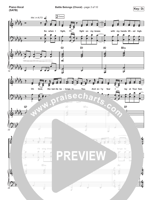 Battle Belongs (Choral) Orchestration (PraiseCharts Choral / Phil Wickham)