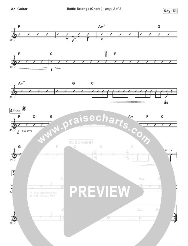 Battle Belongs (Choral) Rhythm Chart (PraiseCharts Choral / Phil Wickham)