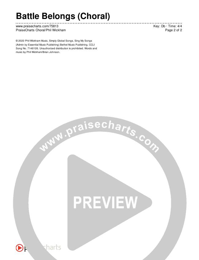 Battle Belongs (Choral) Chords & Lyrics (PraiseCharts Choral / Phil Wickham / Arr. Luke Gambill)